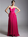TS Couture® Prom / Formal Evening / Military Ball Dress - Open Back Plus Size / Petite Sheath / Column Strapless / V-neck Floor-length Chiffon