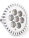 7W E26/E27 LED-spotlights PAR30 7 Högeffekts-LED 680 lm Varmvit AC 85-265 V
