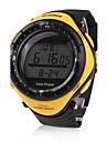 Bărbați Ceas Sport Ceas La Modă Ceas de Mână Energie solară LED Rezistent la Apă Energie solară Cauciuc Bandă Casual Cool Negru Yellow
