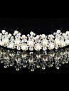 Gorgeous Alloy With Austria Rhinestones/ Imitation Pearl Bridal Tiara
