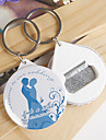 Personalized Bottle Opener / Key Ring - Bride and Groom (set of 12)