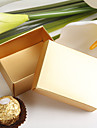 Gold Pearl Paper Favor Box (Set of 12)