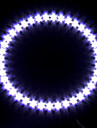 phare de voiture / lumiere decorative (lumiere oeil ange, 39 LED, 12cm, blanc)