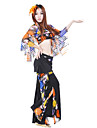 Belly Dance Outfits Women\'s Crystal Cotton Pattern/Print As Picture Belly Dance Spring, Fall, Winter, Summer 13inch(33cm) Dropped