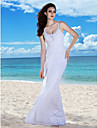 Lanting Bride® Sheath / Column Apple / Hourglass / Inverted Triangle / Misses / Pear / Petite / Plus Sizes / Rectangle Wedding Dress -