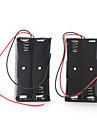 batterilåda för fyra 18.650 batterier (svart)