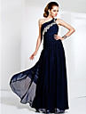 TS Couture® Prom / Formal Evening / Military Ball Dress - Elegant Plus Size / Petite Sheath / Column One Shoulder Floor-length Chiffon withAppliques
