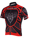 KOOPLUS® Maillot de Cyclisme Homme Manches courtes Velo Respirable / Sechage rapide Maillot / Hauts/Tops Polyester Rayure Printemps / Ete
