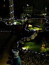 100 LED vit sol rör utomhus Belysning Trädgård gård dekor