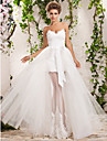 Lanting Bride A-line / Princess Petite / Plus Sizes Wedding Dress-Floor-length Sweetheart Tulle