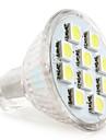 2W GU4(MR11) LED-spotlights MR11 10 SMD 5050 120 lm Naturlig vit DC 12 V