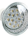 1W GU10 Lampadas de Foco de LED MR16 15 LED Dip 75 lm Branco Quente AC 220-240 V