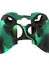 protection etui en silicone a double couleur pour Xbox 360 Controller (noir et vert)