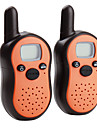 talkie walkie mini-8-canal (gamme 5km, 2-pack, orange)