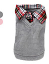 Dog Sweater / Shirt / T-Shirt / Shirt Pink / Gray Winter / Spring/Fall Plaid/Check Fashion