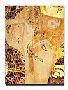 """Hand-painted Famous People Oil Painting with Stretched Frame 24"""" x 36"""" by Gustav Klimt"""