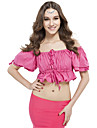 Belly Dance Tops Women\'s Training Linen Pleated 1 Piece Black / Blue / Fuchsia / Pink / Purple / Red / White / Yellow Belly DanceSpring /