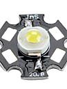 6000-80-6500k 0.75W 90lm 280mAh blanc conduit ampoule avec une plaque d\'aluminium (3,0-3.4v)