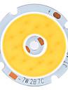 diy 7W 560-630lm 2800-3200K varmvitt ljus cob ledde sändare med hål (21-24V)