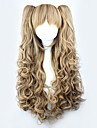 Lolita Curly Wig Inspired by Brown Gradient Cute Double Ponytail 70cm Princess