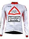 KOOPLUS® Cykeltröja Herr Lång ärm Cykel Andningsfunktion Håller värmen Snabb tork Dragkedja fram Bärbar Tröja Överdelar 100% Polyester