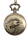 Unisex Fish Alloy Analog Quartz Pocket Watch (Bronze)