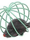 Katter Husdjursleksaker Boll Mus Röd / Grön / Blå / Gul / Purpur / Regnbåge Metall