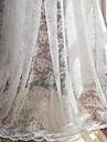 två paneler vita heliga jacquard rena gardiner draperier