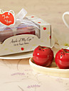 """""""Apple Of My Eye"""" Ceramic Salt & Pepper Shakerss (Set of 2)"""