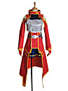 Inspire par Sword Art Online Silica Anime Costumes de cosplay Costumes Cosplay Mosaique Rouge Manche LonguesManteau / Top / Robe / Casque