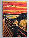 Pictat manual Faimos / Portrete Abstracte Un Panou Canava Hang-pictate pictură în ulei For Pagina de decorare