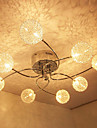 Max 20W Modern/Contemporary Crystal / Bulb Included Electroplated Flush Mount Living Room