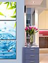 modern stil natursköna canvas väggklocka 3st K210