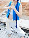 Inspire par MAGI Aladdin Anime Costumes de cosplay Costumes Cosplay Couleur Pleine Bleu Sans Manches Veste / Top / Pantalons / Ceinture