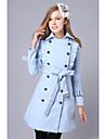 Women\'s Coat , Casual Wool Blends