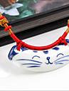 Vintage Cat Ceramic Necklace