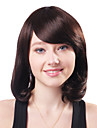 Capless Medium Brown Curly 100% Human Hair Wigs