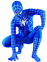 Blue and White Lycra Full Body Spiderman Zentai
