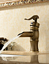 Personalized Bathroom Sink Faucet in Antique style Bathroom Sink Faucet with Centerset Antique Brass finish