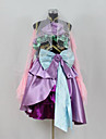 Inspired by Vocaloid Gumi Video Game Cosplay Costumes Cosplay Suits / Dresses Patchwork Purple Long Sleeve Top / Skirt / Bow