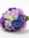 Nice Satin / Cotton Rose Round Shape Wedding Bridal Bouquet