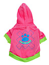 Dog Hoodie / Clothes/Clothing Pink Spring/Fall Cartoon