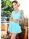 Women\'s Slim One-piece Swim Dress with Bra Pads