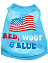 Dog Shirt / T-Shirt Blue Summer National Flag / American/USA