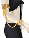 여자 더 색상에 대한 Tassels의 밸리 댄스 팔찌와 성능 안무 복 폴리 에스터