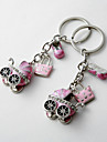 Baby Shower Party Favors & Gifts-4Piece/Set Keychain Favors Chrome Personalized Pink