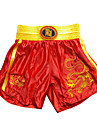 Kick Boxing Professional Embroidery Shorts Red & Golden (Average Size)
