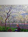 Beruehmte OElgemaelde einem Obstgarten im Fruehling von Claude Monet