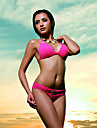 Women\'s Halter Bikinis , Solid Others/Polyester/Spandex Black/Pink/Green/Yellow