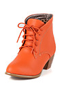 Zapatos de mujer - Tacon Robusto - Botas a la Moda - Botas - Casual - Cuero Sintetico - Negro / Marron / Beige / Naranja